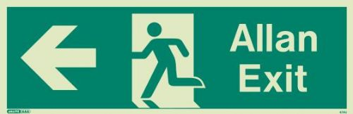 (474UR) Jalite Welsh Exit Sign Allan - Progress to the Left from Here
